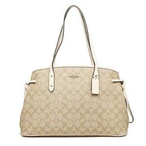 Coach F57842 Drawstring Signature Carryall Bag